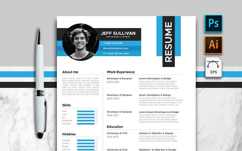 Jeff - Clean CV Resume Template