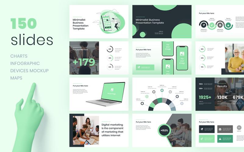 Minimalistische zakelijke PowerPoint-presentatiesjabloon