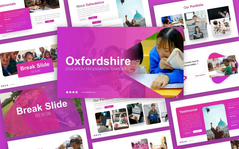 Oxfordshire  -  Education Multipurpose PowerPoint Template