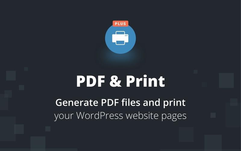 PDF & Print Plus WordPress Plugin