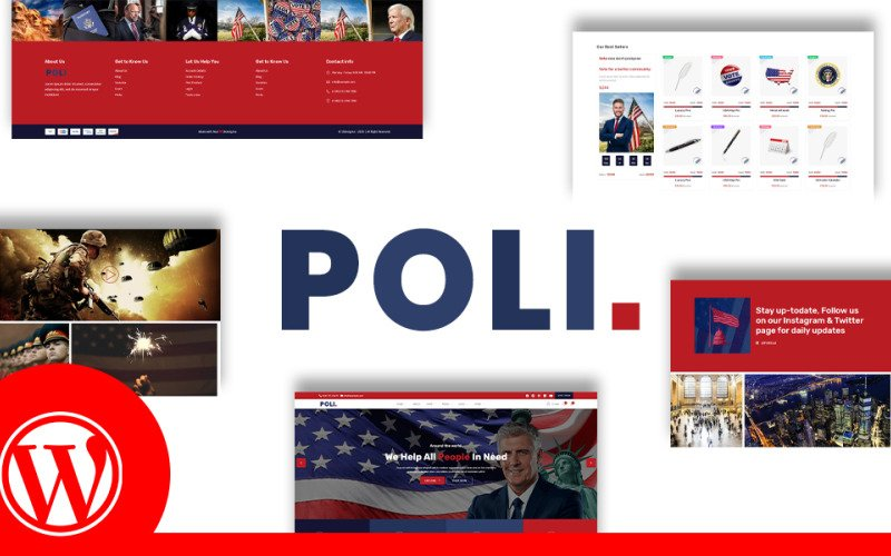 Poli Multipurpose Election Campaign and Donation Portal WooCommerce Theme