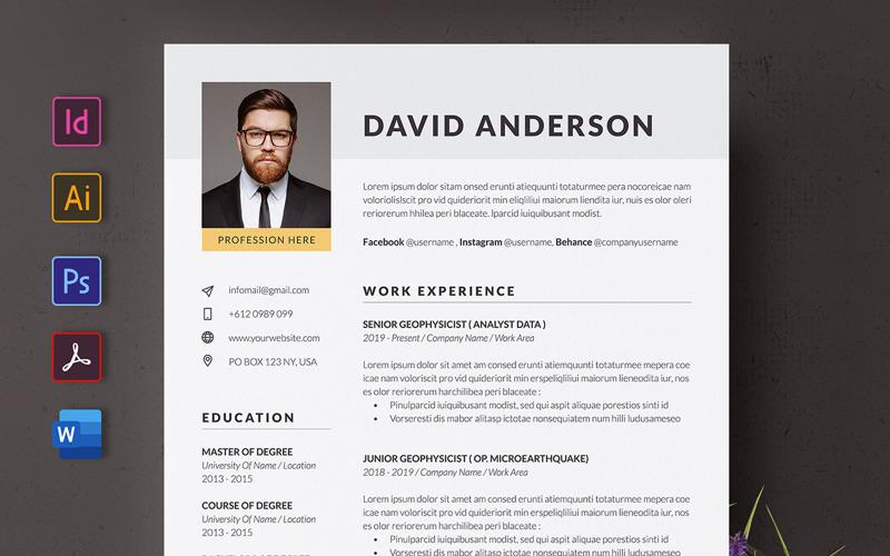 Simple Resume or CV Template