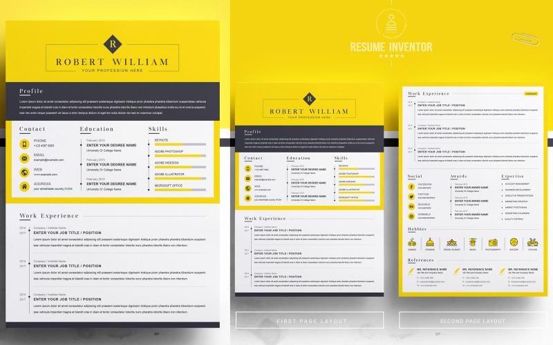 William / CV Template Printable Resume Templates