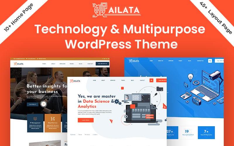 Ailata - технология и многоцелевая тема WordPress