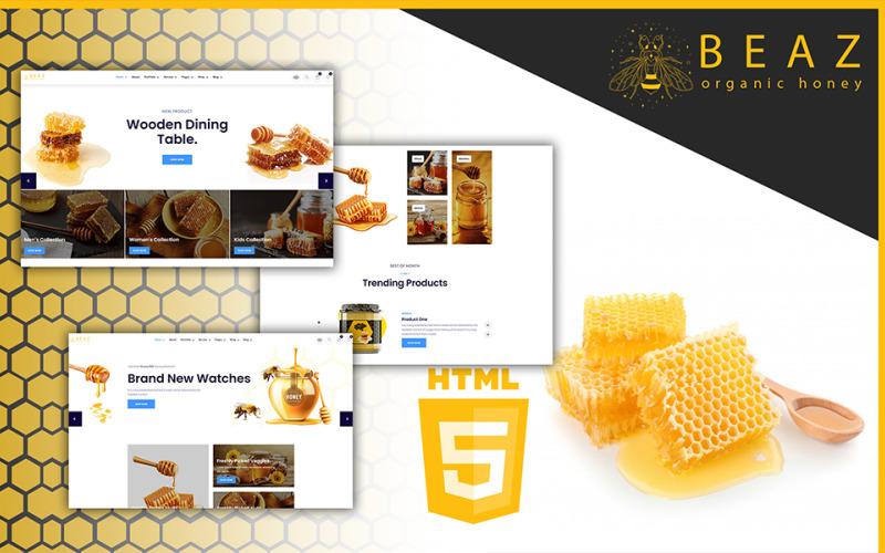 Beaz Beekeeping and Honey Shop HTML5 Template