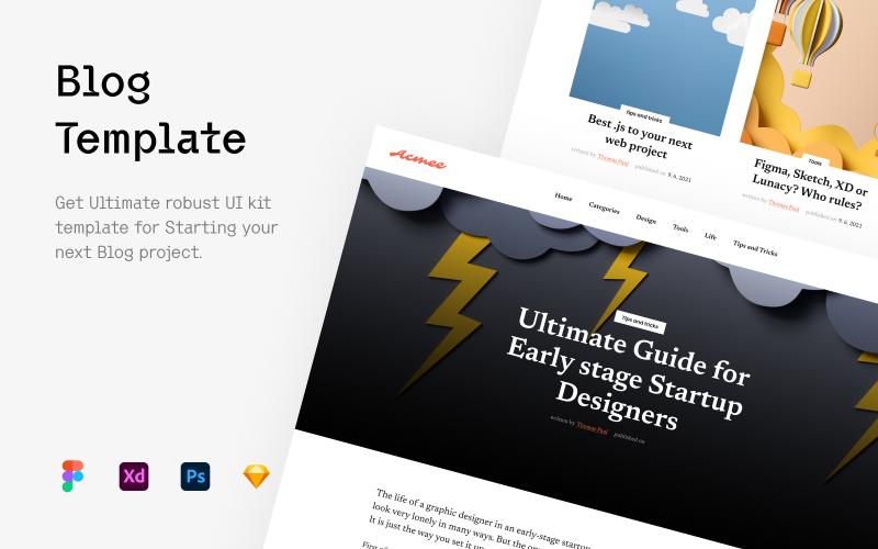 Blog - šablona uživatelského rozhraní webových stránek