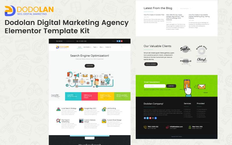 Dodolan - Наборы шаблонов Elementor для агентства цифрового маркетинга