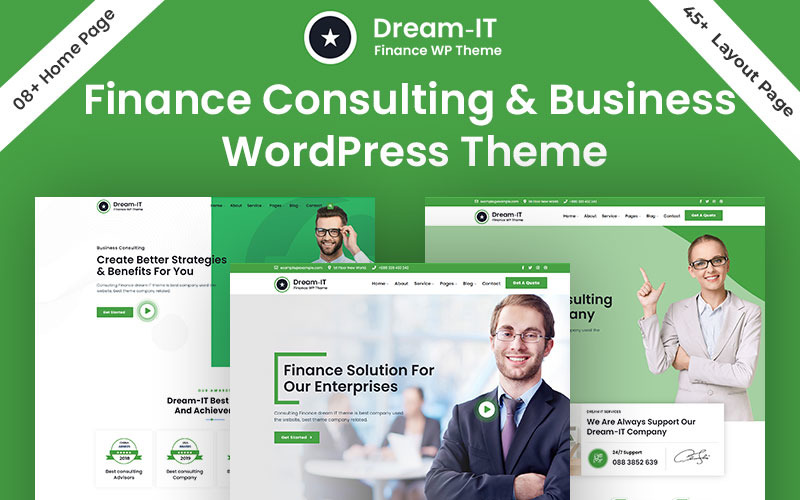 DreamIT Business & Finance Consulting WordPress Theme