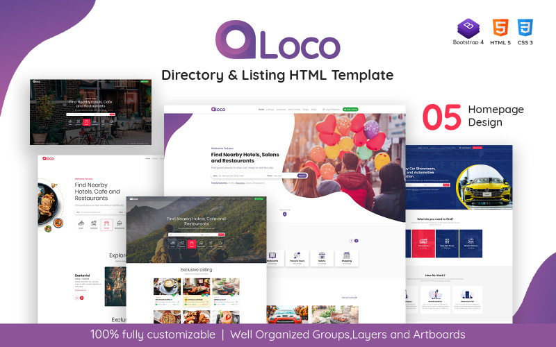 Loco - HTML-Vorlage für Verzeichnislisten
