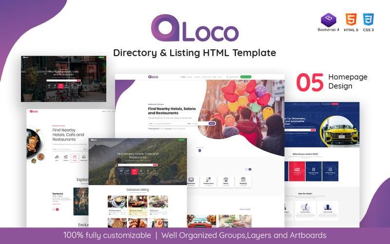 Loco - modelo HTML de listagem de diretório