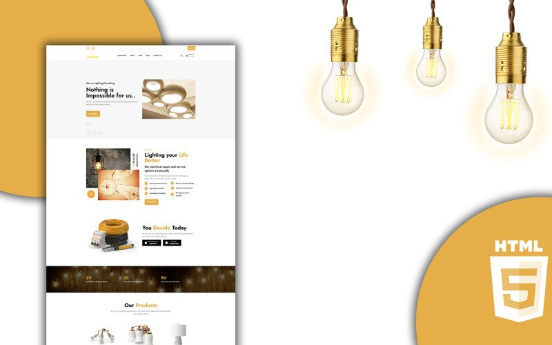Lumus Lighting and Electric Shop HTML5 Template