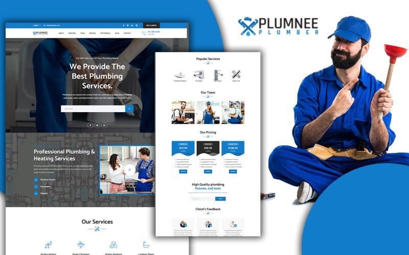Plumnee Simple Plumbing & Sanitary Landing Page HTML5 Template