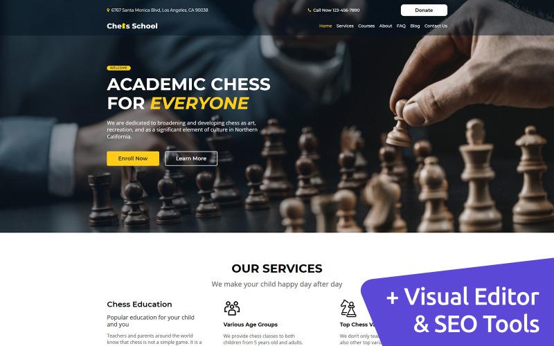 Шаблон сайта Chess MotoCMS