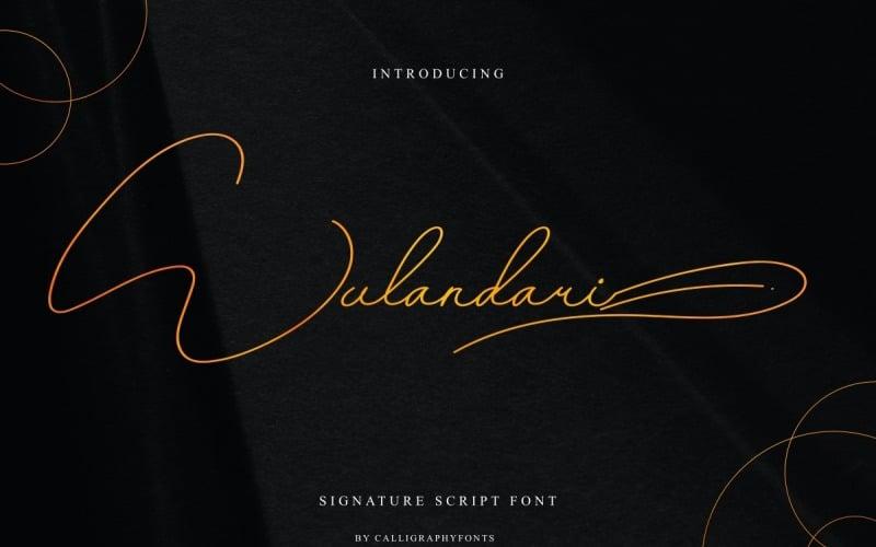 Шрифт підпису підпису Wulandari
