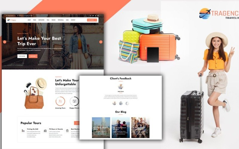 Tragency Travel Agency Landing Page HTML5 Template