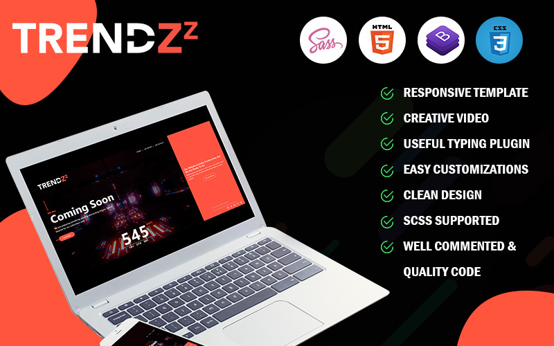 Trendzz - Coming Soon HTML5 Specialty Page