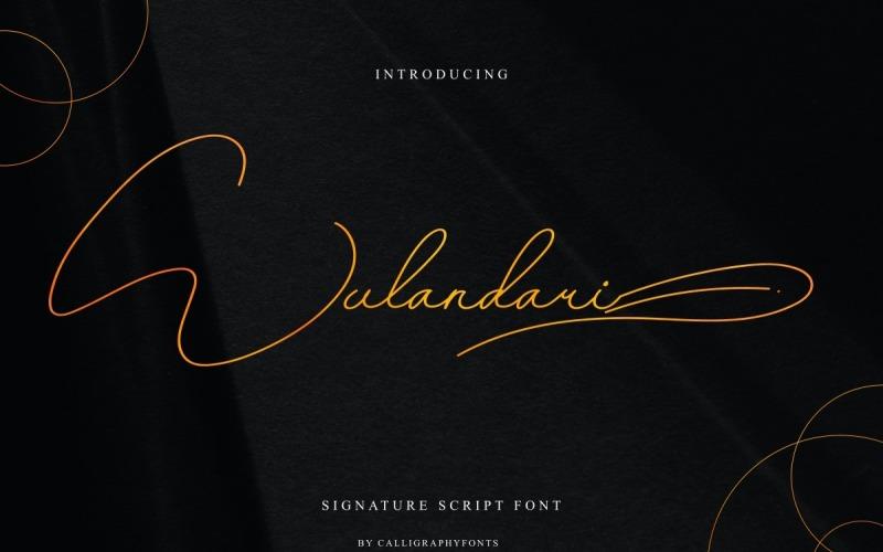 Wulandari 签名手写字体