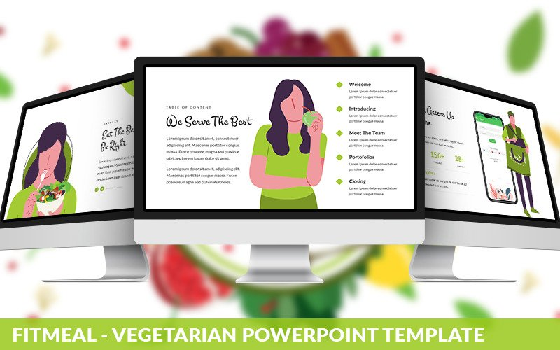 Fitmeal - Vegetarian Powerpoint Template