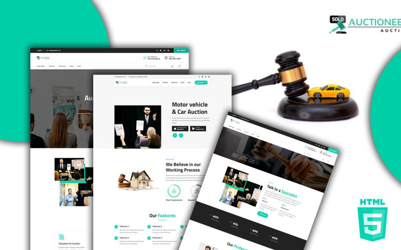 Auctioneer - Auction HTML5 Website template