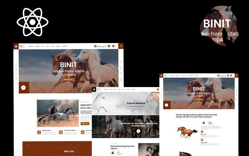 Binit Animals and Horse Сlub React Template