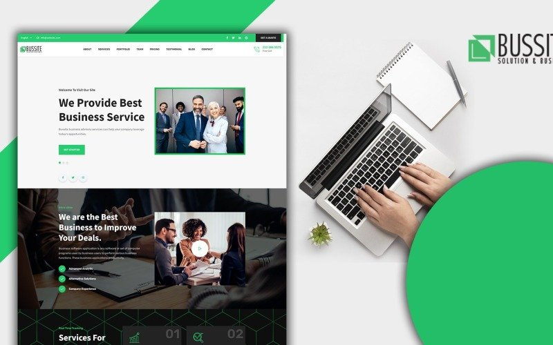 Bussit Multipurpose Business One Page HTML5 Template