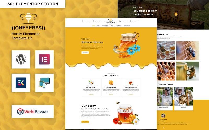 Honeyfresh - Honey Farm & Production Elementor WordPress Template