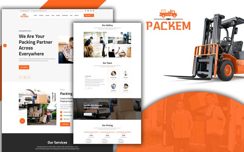 Packem Transport & Logistics Landing Page HTML5 Template