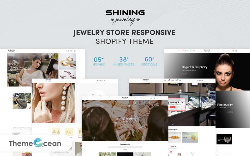 Shining - отзывчивая тема Shopify для ювелирного магазина