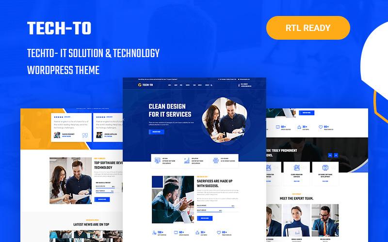 Techto - Thème WordPress adaptatif aux solutions informatiques et à la technologie