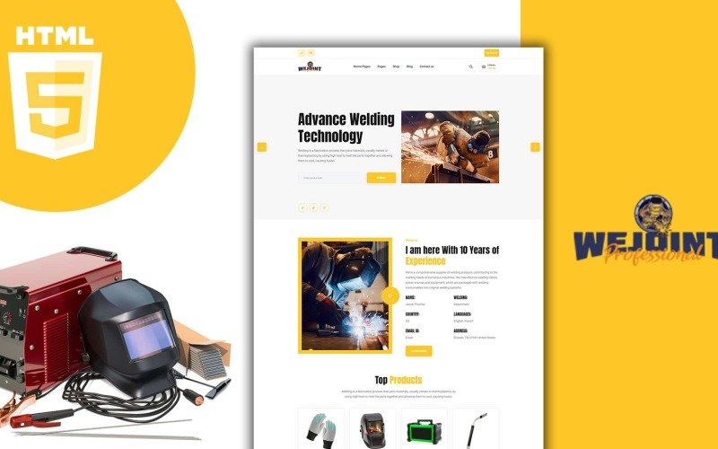 Wejoint Welding And Metal Works Shop HTML Template