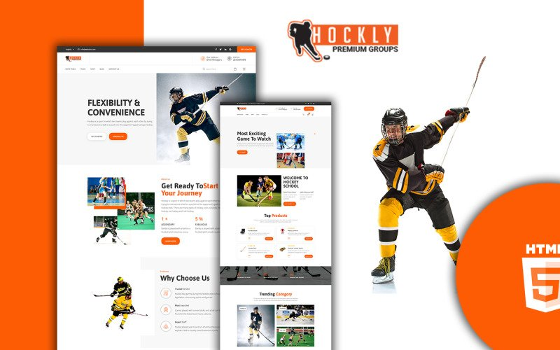 Hockly - HTML-шаблон для хоккейного магазина