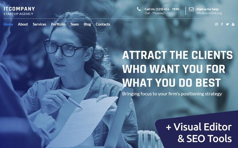 IT-Unternehmen Startup Moto CMS Website-Vorlage