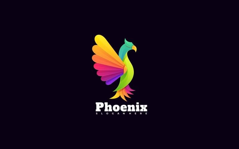 Шаблон красочного логотипа Феникс