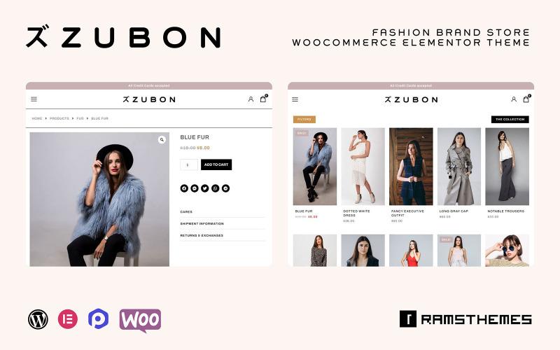 ZUBON - Fashion Brand Store WooCommerce Theme