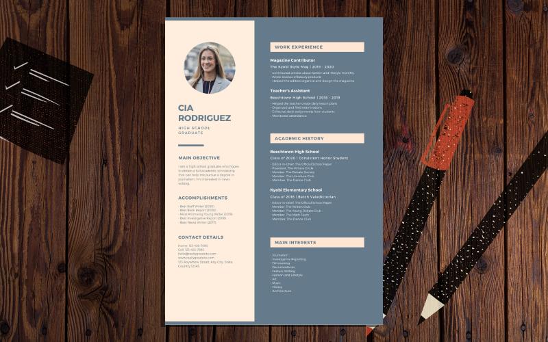 Cia Rodriguez - Creative & Modern Resume Template
