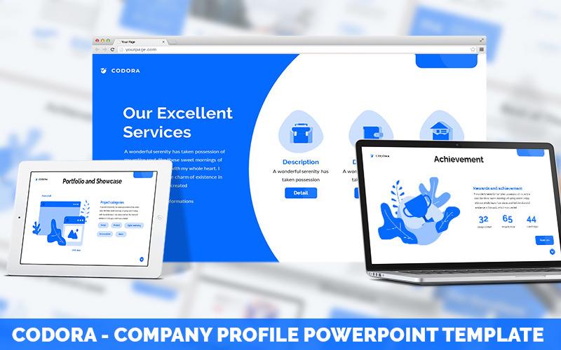 Codora - Шаблон PowerPoint для профиля компании