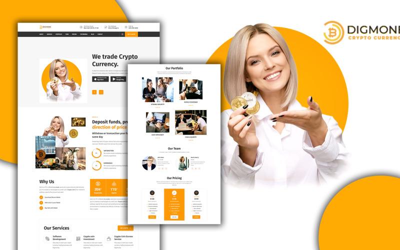 Digmone - Шаблон целевой страницы HTML5 служб криптовалюты