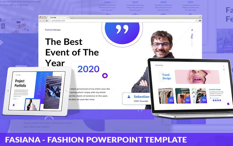 Fasiana - Modèle PowerPoint de mode