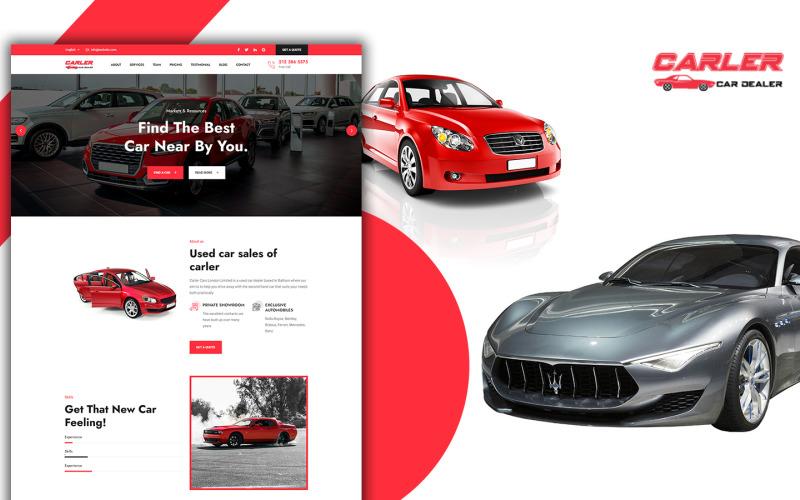 Карлер - HTML5-страница автосалона