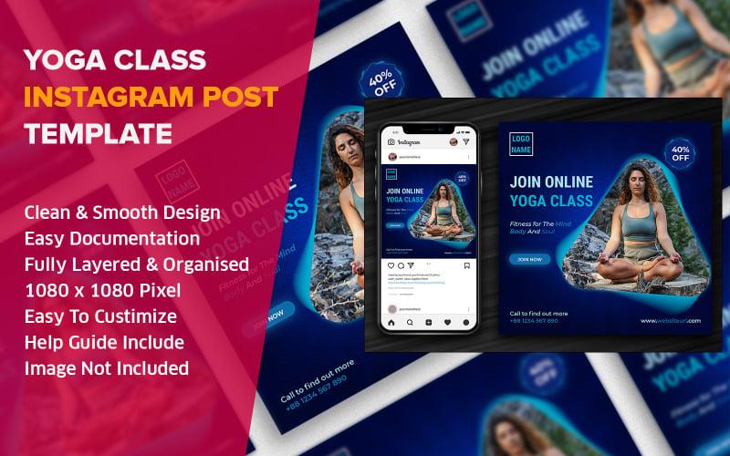 Yoga Online Class Instagram Social Media Post Design