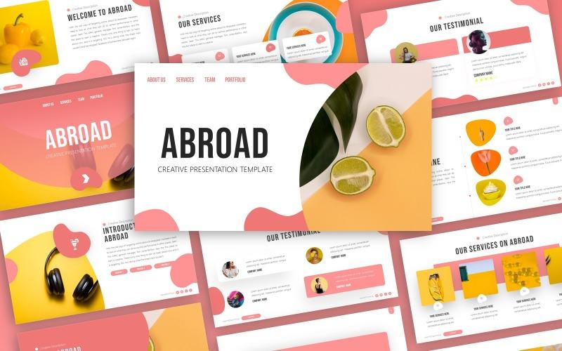 За границей - творческий многоцелевой шаблон PowerPoint
