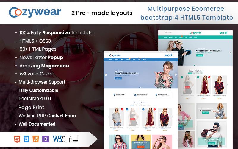 Cozywear - Fashion eCommerce HTML Website Template