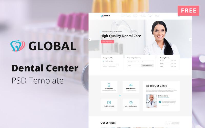 Darmowy wielostronicowy szablon PSD centrum dentystycznego — globalny
