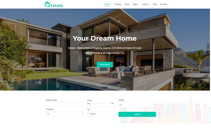 Estate - Шаблон Joomla по недвижимости и недвижимости