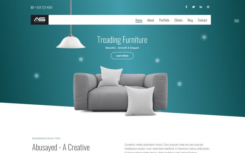 Abusayed   Furniture Showcase HTML5 Landing Page Template