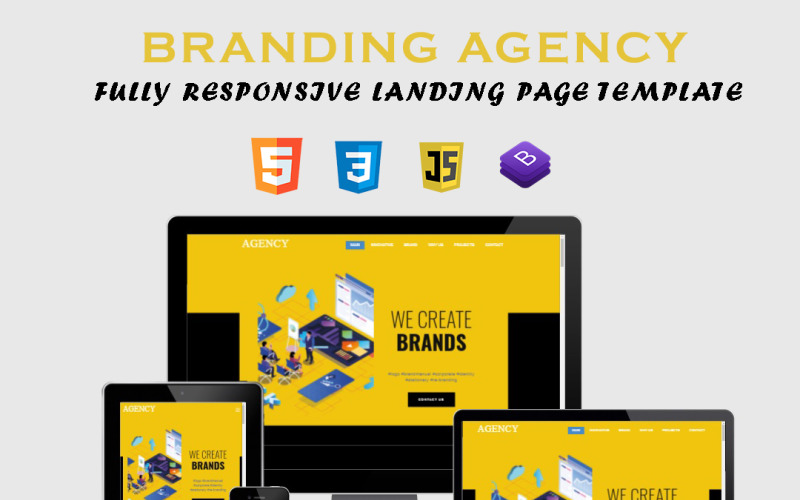 Branding Agency - Fully Responsive Working Landing Page Template