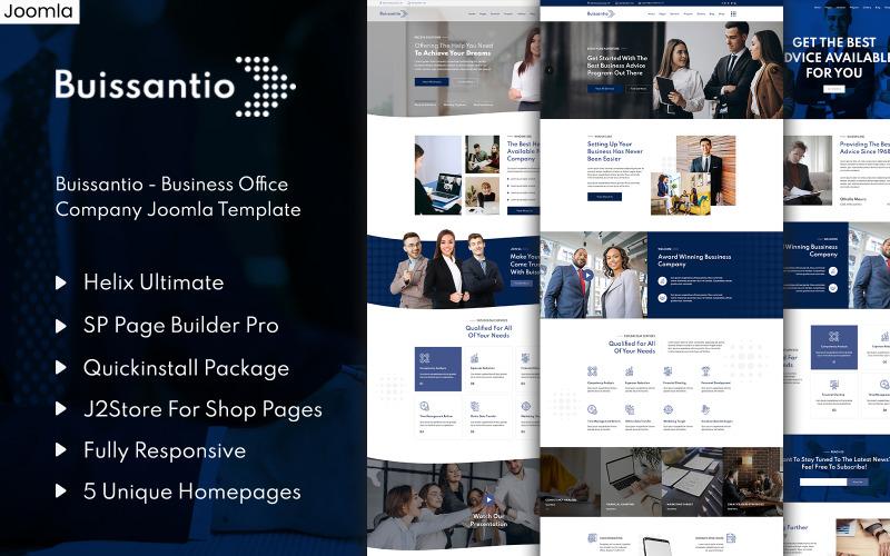 Buissantio - шаблон Joomla для бизнеса и бизнеса