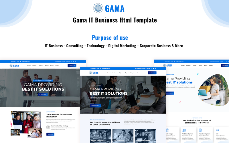 Gama - IT Solution and Business HTML Template