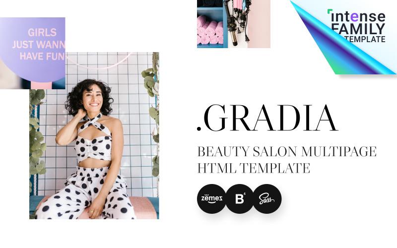 Gradia - modelo de site HTML5 para salão de beleza