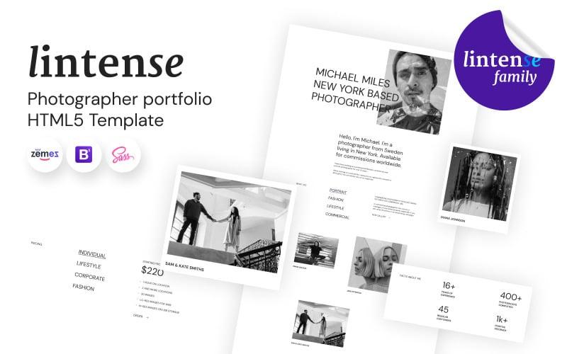 Lintense - Photographer Portfolio Landing Page Template
